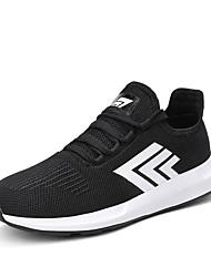 cheap -Men's Light Soles Tulle Spring / Fall Sneakers Color Block Black / Black / White / Black / Blue
