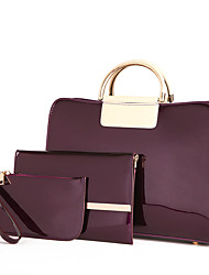cheap -Women's Bags PU / leatherette Bag Set 3 Pcs Purse Set Zipper for Event / Party / Office & Career Black / Purple / Wine