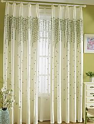 baratos -Cortinas cortinas Sala de Estar Geométrica Algodão / Poliéster Estampado