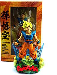 abordables -Las figuras de acción del anime Inspirado por Bola de Dragón Son Goku CLORURO DE POLIVINILO 23cm CM Juegos de construcción muñeca de