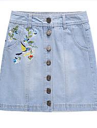 povoljno -Žene A kroj Ulični šik Suknje - Cvjetni print