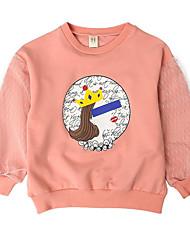 abordables -Enfants Fille Imprimé Manches Longues Pull à capuche & Sweatshirt