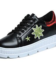 povoljno -Žene Cipele PU Proljeće Jesen Udobne cipele Sneakers Creepersice za Kauzalni Crna / Green Crna / plava