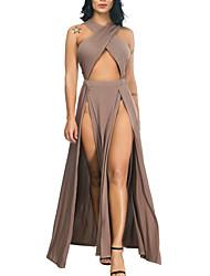 baratos -Mulheres Moda de Rua Macacão Sólido