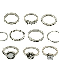 cheap -Women's Ring Set - Imitation Tourmaline, Alloy Basic, Fashion 7 Gold / Silver For Daily / Date