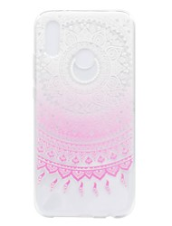 cheap -Case For Huawei P20 lite P8 Lite (2017) Transparent Pattern Back Cover Flower Soft TPU for Huawei P20 lite Huawei P20 Pro Huawei P20 P10