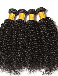 cheap -Brazilian Hair Curly Human Hair Weaves 50g x 4 Hot Sale Extention Human Hair Extensions All Christmas Gifts Christmas Wedding Party