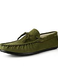 Недорогие -Муж. обувь Замша Весна Осень Удобная обувь Башмаки и босоножки для Повседневные Серый Военно-зеленный Синий Коричневый Цвет хаки