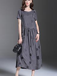 cheap -Women's Vintage Tunic Dress - Geometric