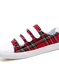 billige -Herre Sko Syntetisk Mikrofiber PU Forår Efterår Komfort Sneakers for Afslappet Rød Mørkebrun Mørkegrøn