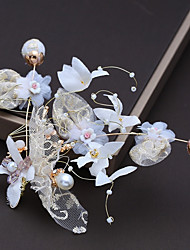 cheap -Alloy Headdress with Crystal / Satin Flower / Lace 1pc Wedding / Birthday Headpiece