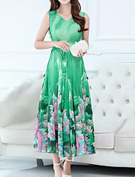 cheap -Women's Sophisticated Boho Sheath Dress - Floral, Print