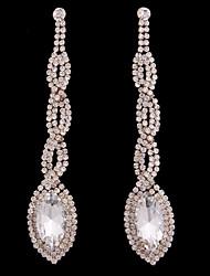 abordables -Mujer Cristal Pendientes cortos / Pendients de aro - Cristal, Chapado en Oro Gota Bohemio, Moda, Boho Dorado Para Boda / Diario