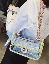 baratos -Mulheres Bolsas PVC Bolsa de Ombro Ziper Verde / Rosa