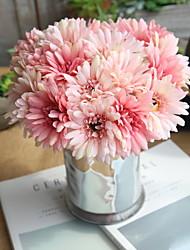 Недорогие -Искусственные Цветы 7 Филиал Свадьба / Пастораль Стиль Хризантема Букеты на стол