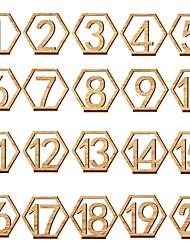 Недорогие -деревянный Таблица Центр шт - Не персонализированные Держатели для табличек Отделка 20pcs Все сезоны