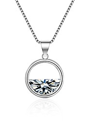 cheap -Women's Cubic Zirconia Geometric Pendant Necklace - Zircon Korean, Fashion White 55 cm Necklace For Ceremony, Holiday