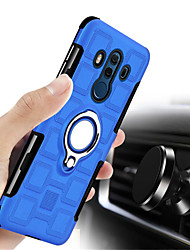 cheap -Case For Huawei Mate 10 lite Mate 10 pro Shockproof Ring Holder Back Cover Solid Colored Hard PC for P9 lite mini Mate 10 lite Mate 10 pro