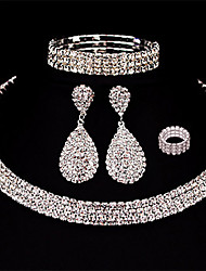 cheap -Women's Layered Jewelry Set - Drop European, Fashion, Multi Layer Include Drop Earrings White For Wedding