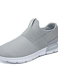 Недорогие -Муж. обувь Тюль Лето Удобная обувь Кеды Белый / Черный / Серый