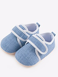 baratos -Para Meninas Para Meninos sapatos Tecido Primavera Outono Primeiros Passos Conforto Rasos para Casual Cinzento Verde Azul Rosa claro