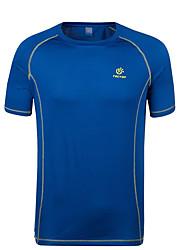 baratos -Homens Camiseta de Trilha Ao ar livre Blusas Futebol Ciclismo / Moto Corrida