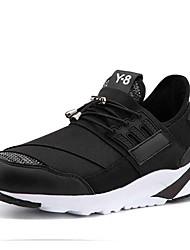 お買い得  -男性用 靴 繊維 春 秋 ライト付きソール アスレチック・シューズ ランニング のために スポーツ ホワイト ブラック グレー