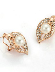 cheap -Women's Clip Earrings - Leaf Bohemian, Korean Gold For Party / Gift