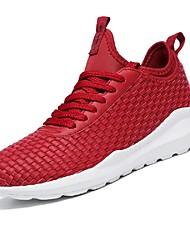 povoljno -Muškarci Cipele Sintetika Mreža Ljeto Svjetleće tenisice Udobne cipele Sneakers Hodanje Tenis Trčanje za Kauzalni Vanjski Obala Crn Dark