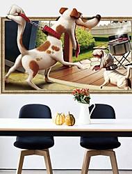 Недорогие -Декоративные наклейки на стены - Простые наклейки Животные 3D Гостиная Спальня Ванная комната Кухня Столовая Кабинет / Офис