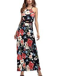 cheap -Women's Boho Swing Dress - Floral, Print
