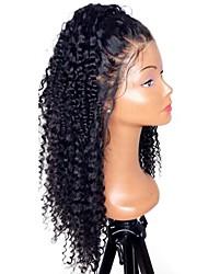 levne -Nezpracované / Přírodní vlasy Se síťovanou přední částí Paruka Brazilské vlasy Kudrny Střední část / Boční část 130% Hustota S dětskými vlasy / Přírodní vlasová linie / Pro černošky Přírodní Dámské