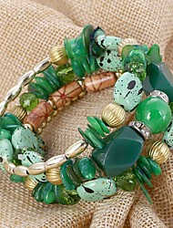 preiswerte -Damen Strang-Armbänder - überdimensional Irregulär Purpur Rot Grün Armbänder Für Geschenk Alltag