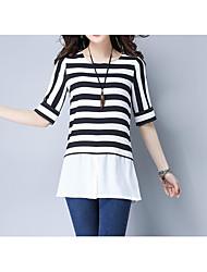 economico -T-shirt Per donna Essenziale Collage, A strisce