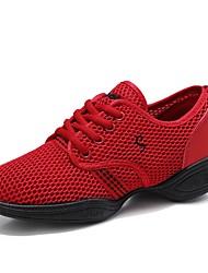 economico -Per donna Sneakers da danza moderna Tulle Sneaker Piatto Personalizzabile Scarpe da ballo Nero / Fucsia / Rosso