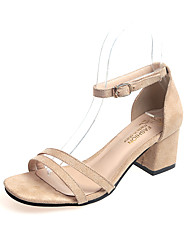 cheap -Women's Shoes Rubber Spring Fall Comfort Heels Low Heel Pointed Toe for Outdoor Black Beige Brown