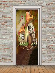 abordables -Forme A fleurs/Botanique Stickers muraux Autocollants avion Autocollants muraux 3D Autocollants muraux décoratifs Autocollants de frigo,