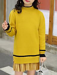 preiswerte -Mädchen Pullover & Cardigan Solide Baumwolle Frühling Herbst Langarm Niedlich Aktiv Zeichentrick Braun Grün Schwarz Gelb