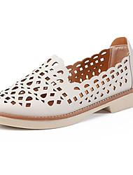Недорогие -Жен. Обувь Полиуретан Лето Удобная обувь На плокой подошве На плоской подошве Круглый носок Черный / Серый / Розовый