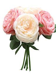 baratos -Flores artificiais 5 Ramo Festa / Casamento Rosas / Flores eternas Flor de Mesa