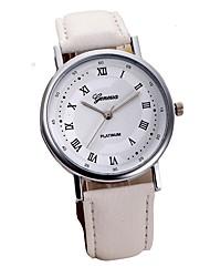 Недорогие -Муж. Нарядные часы Кварцевый Стеганная ПУ кожа Черный / Белый 30 m Секундомер Аналоговый Классика На каждый день Элегантный стиль - Белый Черный Коричневый Один год Срок службы батареи / SSUO LR626
