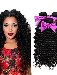 cheap -Malaysian Hair Curly Natural Color Hair Weaves / Human Hair Extensions 3 Bundles Human Hair Weaves Best Quality / New Arrival / For Black Women Natural Black Human Hair Extensions Women's