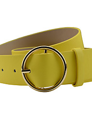 cheap -Women's Vintage Skinny Belt - Solid Colored