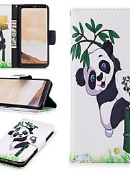 preiswerte -Hülle Für Samsung Galaxy S8 Kreditkartenfächer / Geldbeutel / mit Halterung Ganzkörper-Gehäuse Panda Hart PU-Leder für S8