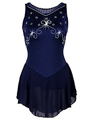 cheap -Figure Skating Dress Women's Ice Skating Dress Dark Navy strenchy Performance / Professional Skating Wear Quick Dry, Anatomic Design