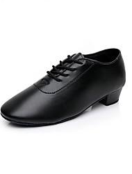 Недорогие -Жен. Обувь для модерна Дерматин На каблуках Каблуки на заказ Персонализируемая Танцевальная обувь Черный / В помещении