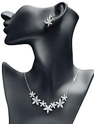 abordables -Femme Zircon Ensemble de bijoux - Etoile Doux, Mode Comprendre Boucles d'oreille goutte / Pendentif de collier Blanc Pour Mariage / Soirée