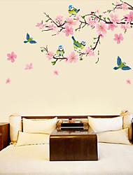 Недорогие -Декоративные наклейки на стены - 3D наклейки 3D Цветочные мотивы / ботанический Гостиная Спальня Ванная комната Кухня Столовая Кабинет /