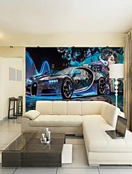 Недорогие -Пользовательские научно-фантастический автомобиль красоты большие настенные покрытия настенные обои, подходящие для офиса спальня ресторан технологии