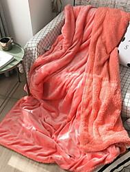 Недорогие -Коралловый флис, Принт и жаккард С принтом Хлопок / полиэфир Акриловые волокна одеяла